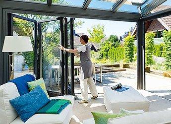 Solarlux Glas Faltwand - Beispiel