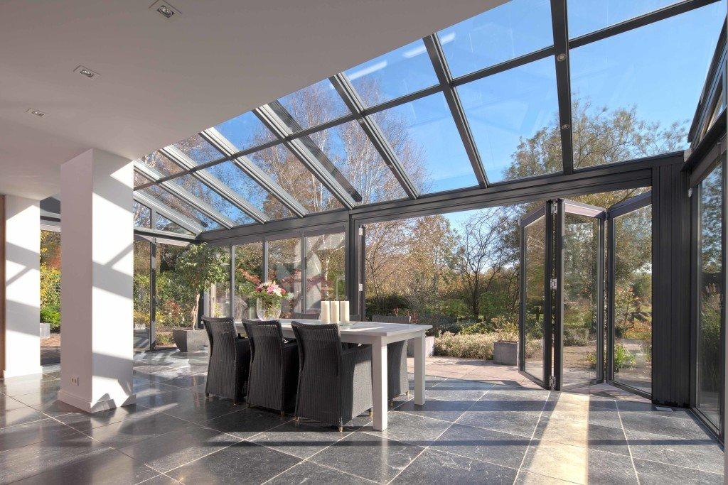 Wintergarten Glas Terrassendacher Sieker Rolladen